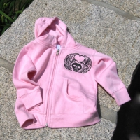 Little Black Soul Effigy design<br>from Portsmouth, New Hampshire (1718)<br>Printed on Pink
