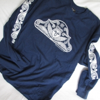 Lois Porter <br>(Short or Long Sleeve)<br>Blue/Light Gray ink