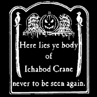 Ichabod Crane (White Ink) <br>(Short or Long Sleeve)