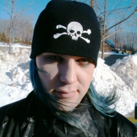Skull and Crossed Bones Knit Hat